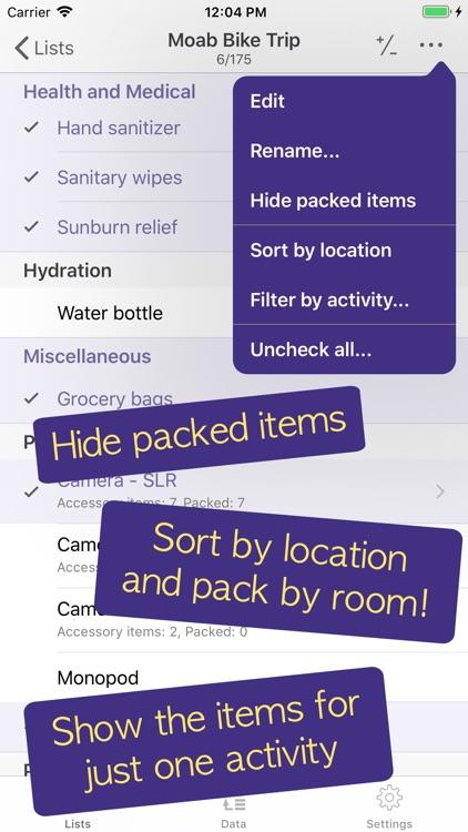 PackCheck Packing List screenshot-6