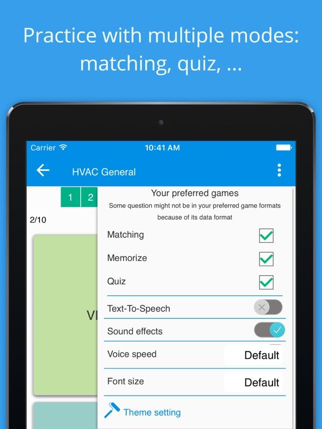 HVAC practice test on the App Store