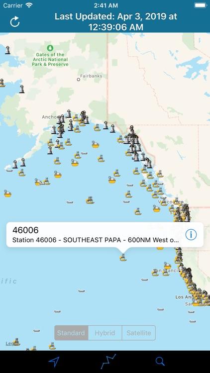 NOAA Buoy Stations & Ships screenshot-6