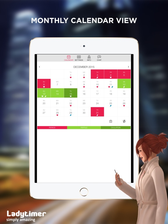 LADYTIMER Period Tracker & Ovulation Calendar screenshot