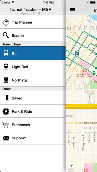 Transit Tracker App Report on Mobile Action - App Store