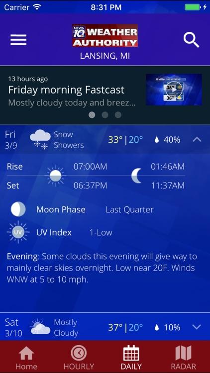 WILX News 10 Weather Authority screenshot-3