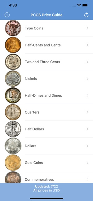 PCGS Price Guide - Coin Values on the App Store