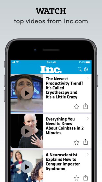 Screenshot for Inc. Must Reads and Magazine in United States App Store