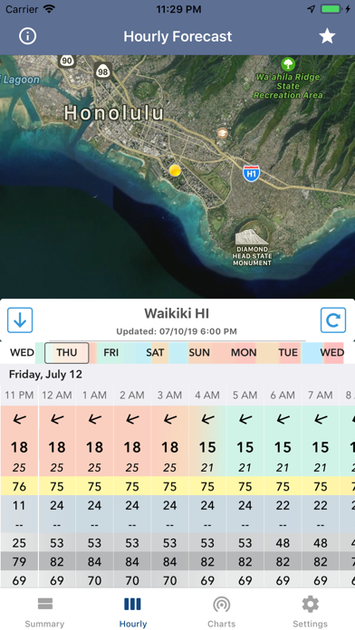 Screenshot for National Weather Forecast Data in United States App Store