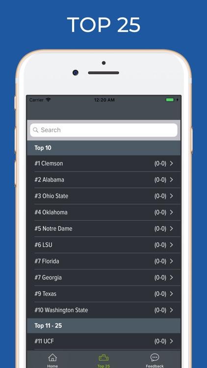 Georgia Football Schedules screenshot-4