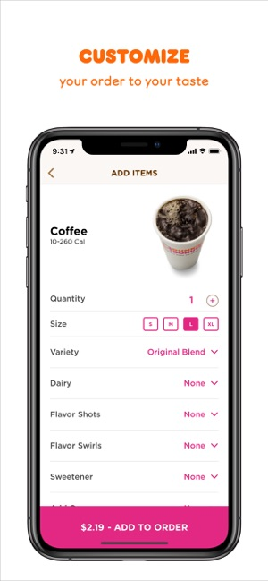 Dunkin' Donuts on the App Store