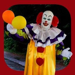 Evil clowns halloween stickers