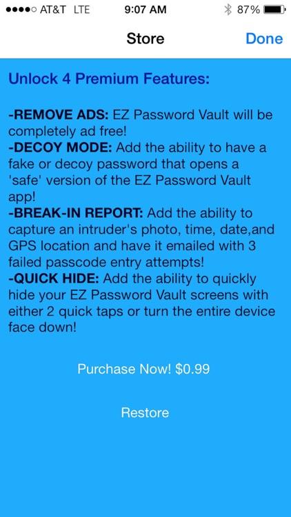 EZ Password Vault screenshot-3