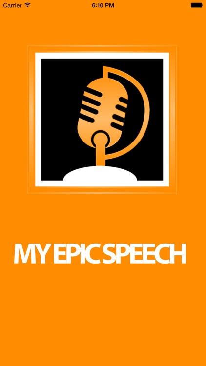 My Epic Speech