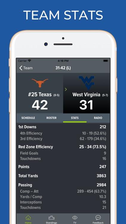 West Virginia Football screenshot-4