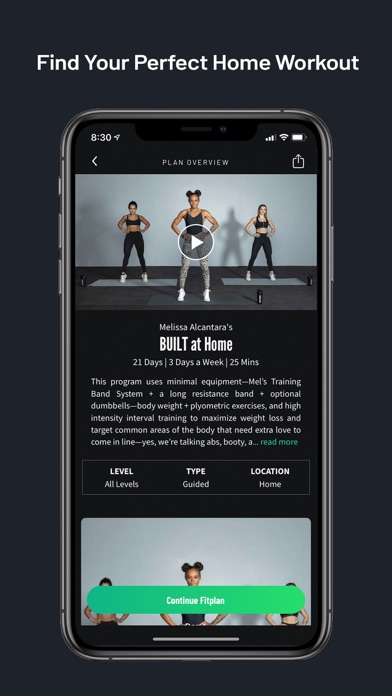 Fitplan: Gym & Home Workout Screenshot