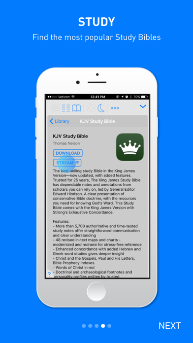 Holy Bible King James review screenshots