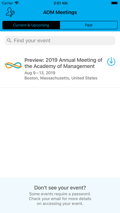 Academy of Management Meetings screenshot two