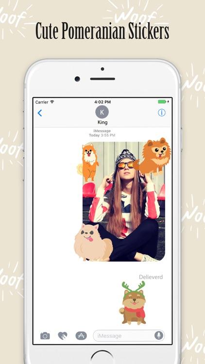 Pomeranian Puppy Stickers Cute screenshot-3