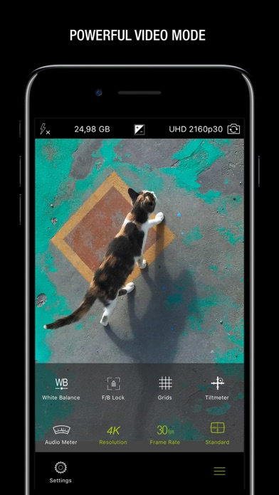 ProCamera. Screenshot