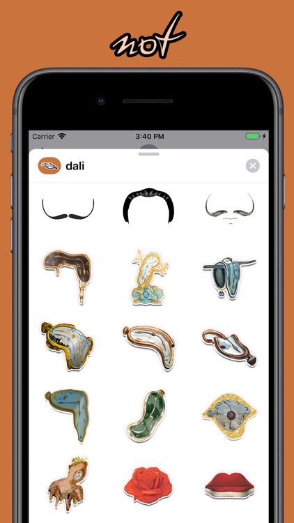 Dali-fy: clocks + moustaches!