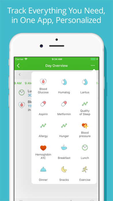 Screenshot #3 pour Diabetes Tracker by MyNetDiary