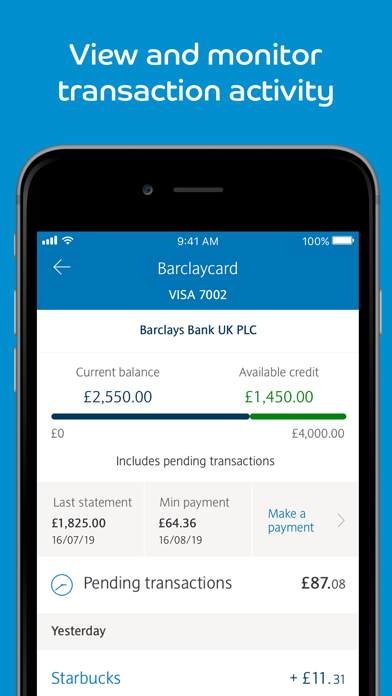 Barclaycard screenshot two