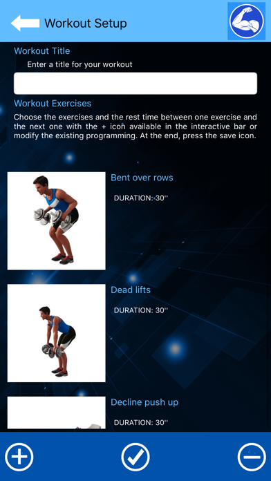 Arm Workout at Home with music screenshot 1