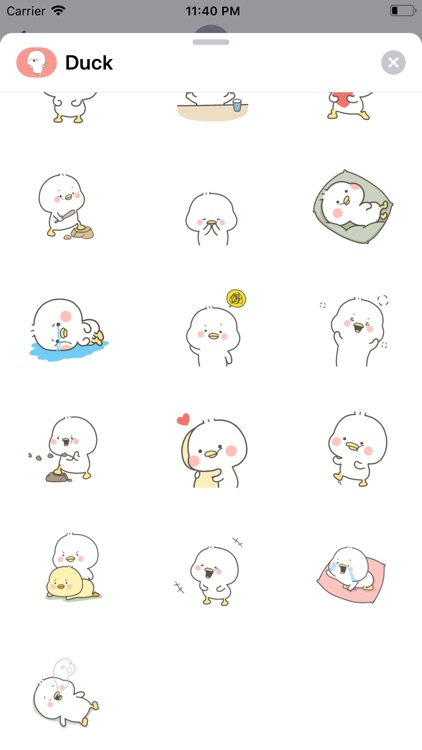 Lovely Duck Animated Stickers screenshot-5