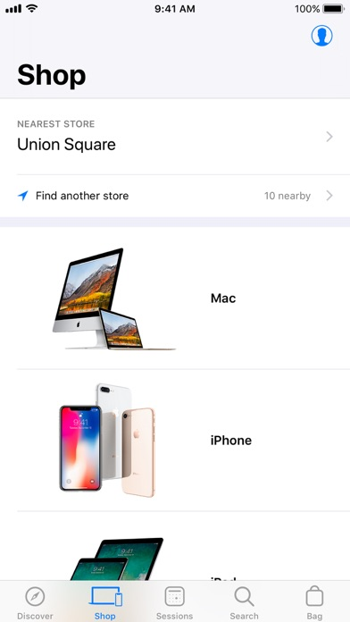 Screenshot of Apple Store App