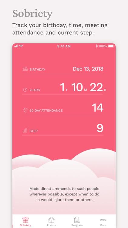 Pink Cloud:  AA Meeting Finder screenshot-3
