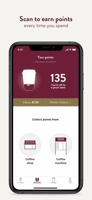 c8d5775a3ca5 Costa Coffee Club on the App Store