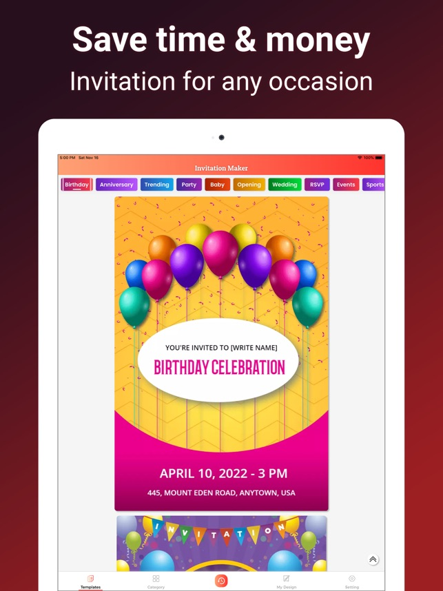 1invite Invitation Maker On The App Store