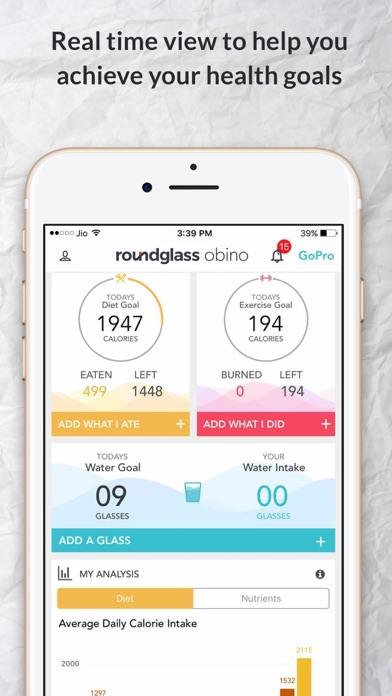 RoundGlass Obino Health Coach screenshot one