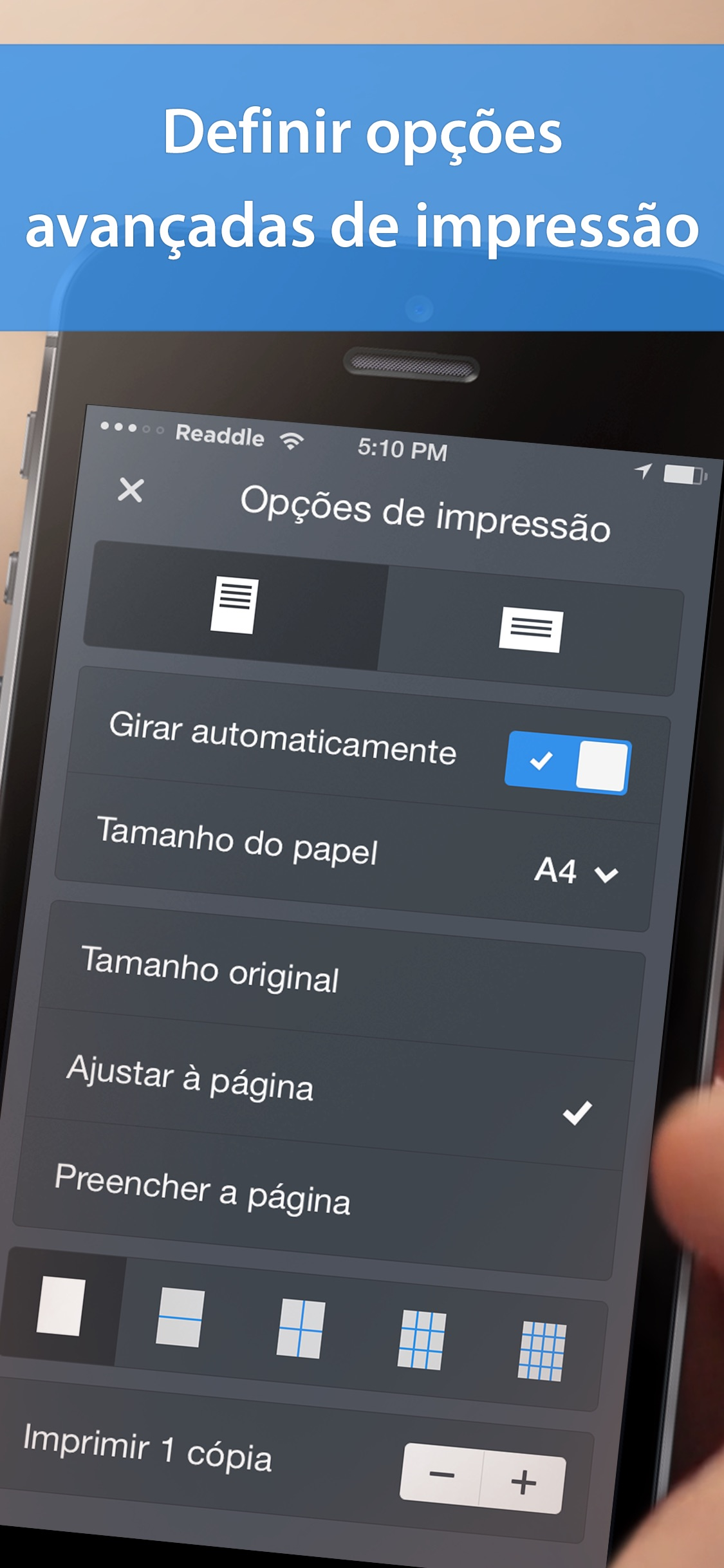 Screenshot do app Printer Pro da Readdle