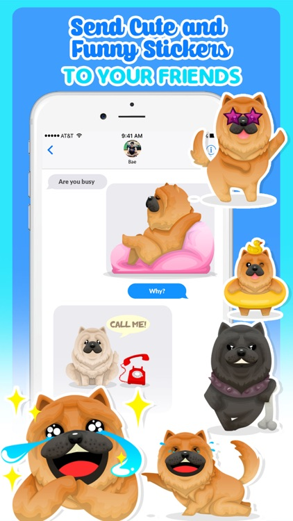 Chow Chow Dog Emoji Stickers screenshot-3