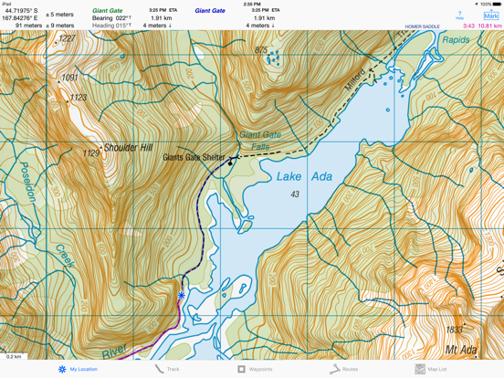 Topographic Map Of New Zealand.I Hike Gps Nz Topo Maps App Price Drops