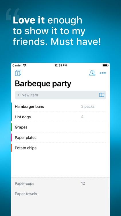 Buy Me a Pie! - Shopping List screenshot-0