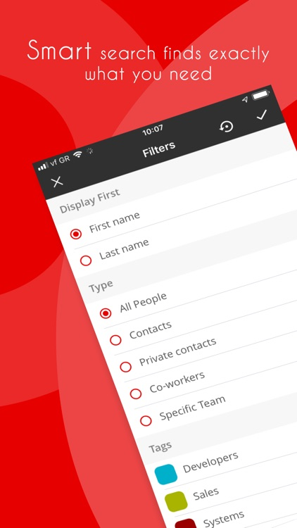 Vodafone Contacts List