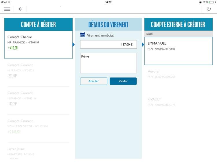 Banque Populaire pro pour iPad screenshot-3