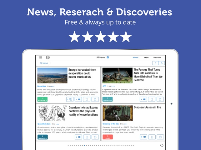 ‎Science News & Discoveries Screenshot