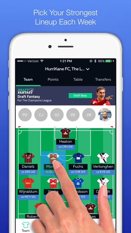 Draft Fantasy Soccer (FPL) screenshot-1