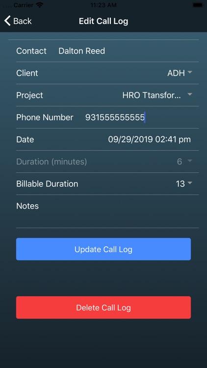 Tempus - Call & Time Tracking screenshot-3