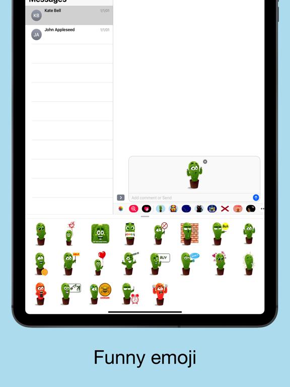 Cactus emoji - funny plants screenshot 8