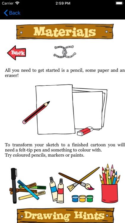 Drawing Horses Cartoon Project screenshot-3