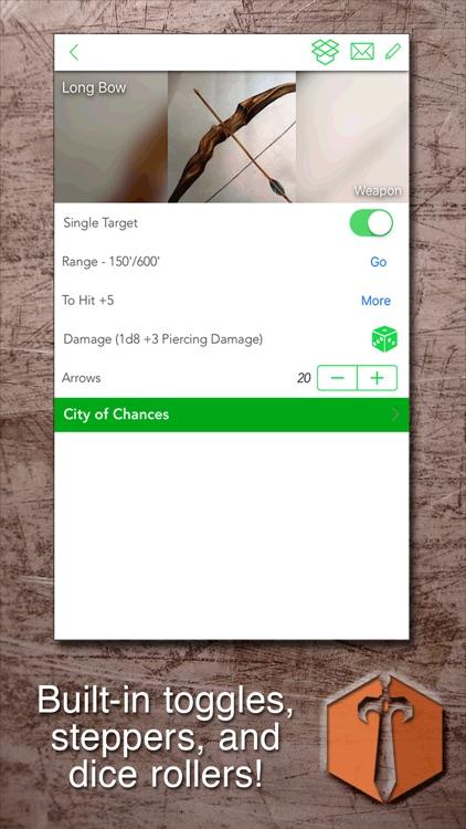 Sheet Yourself: RPG Sheets screenshot-3