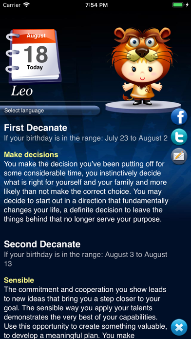 Horoscope Hd Pro review screenshots