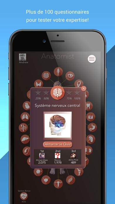 Screenshot #2 pour Anatomist – Anatomie Quiz Jeu
