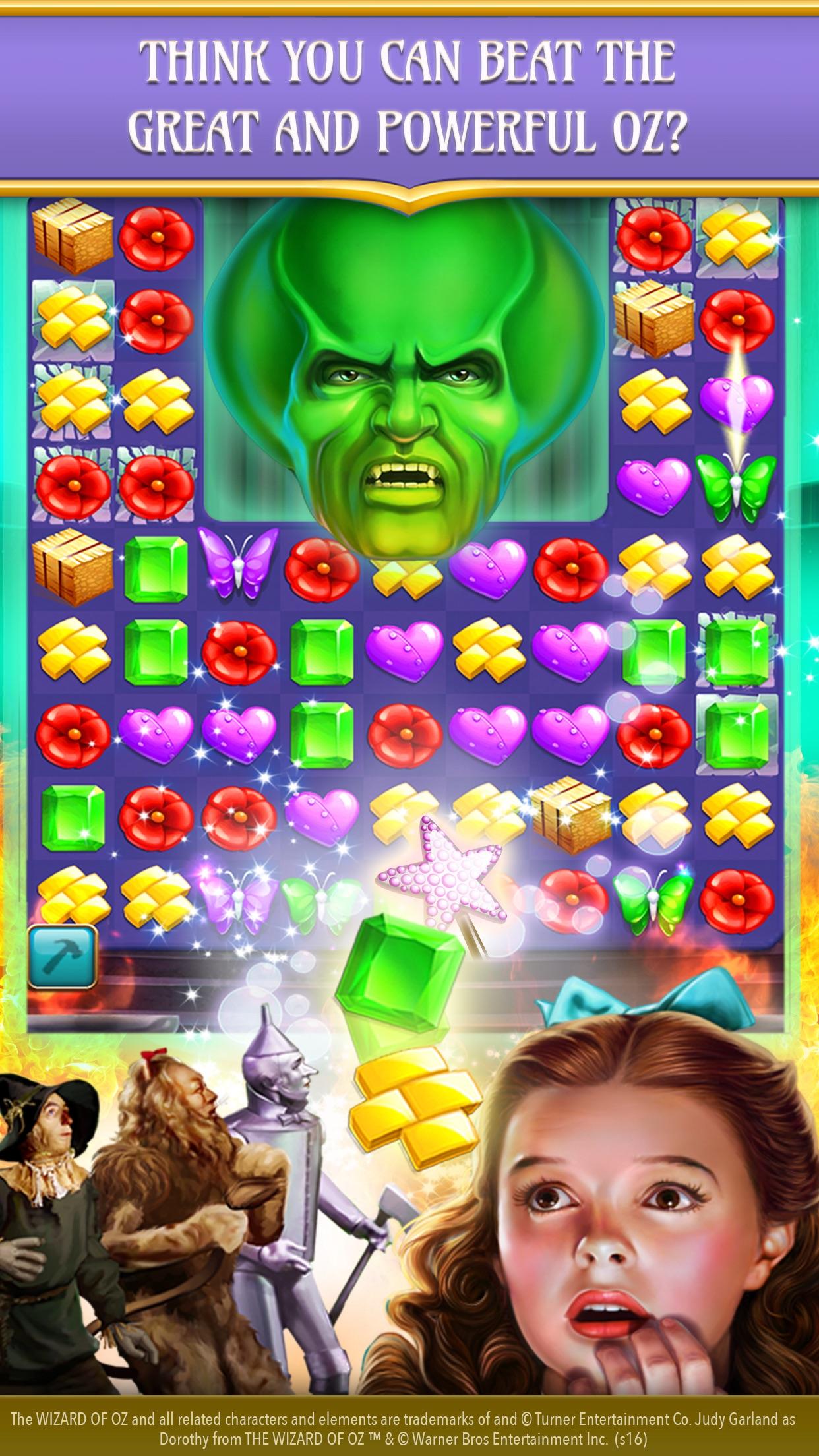 The Wizard of Oz Magic Match 3 Screenshot