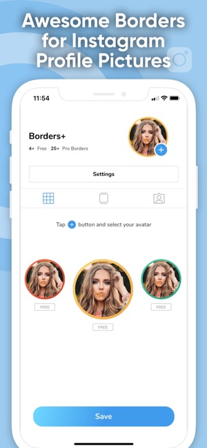 Borders+ Profile Picture Maker on the App Store