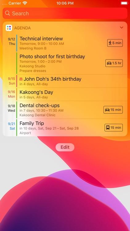 Agenda: Widget+ screenshot-0