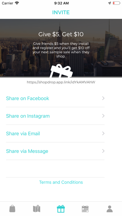 ShopDrop Sample Sales Screenshot