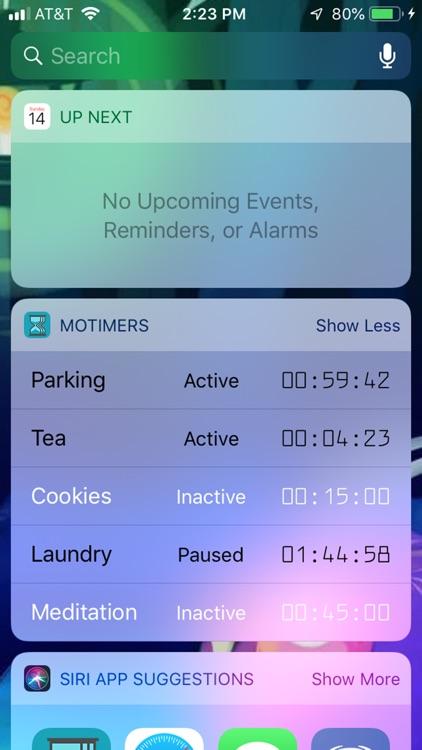 MoTimers screenshot-3