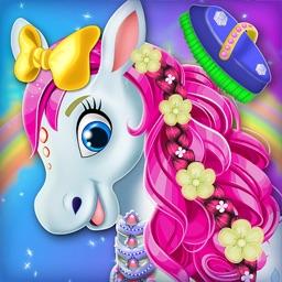 Cute Horse Unicorn : Hair Care